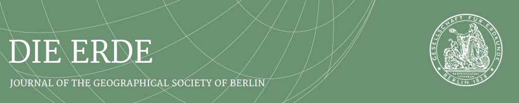 Die ERDE -- Journal of the Geographical Society of Berlin